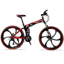 folding Road Bike 24 speed 26″ inch mountain bike brand bicycle  Front and Rear Mechanical Disc Brake Full shockingproof Frame