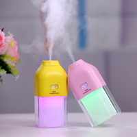 1200MA Rechargeable Built In Lithium Battery USB Air Humidifier With Colorful LED Mood Lamp Ultrasonic Water