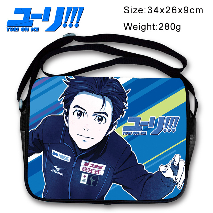 2017 Yuri on Ice Victor Nikiforov Cosplay Shoulder Bag Unisex Students Canvas Messenger Cross Body Bags Sling Pack Satchel yuri on ice figure cosplay katsuki yuri victor nikiforov yuri plisetsky pvc figure phone strap keychain pendant toys