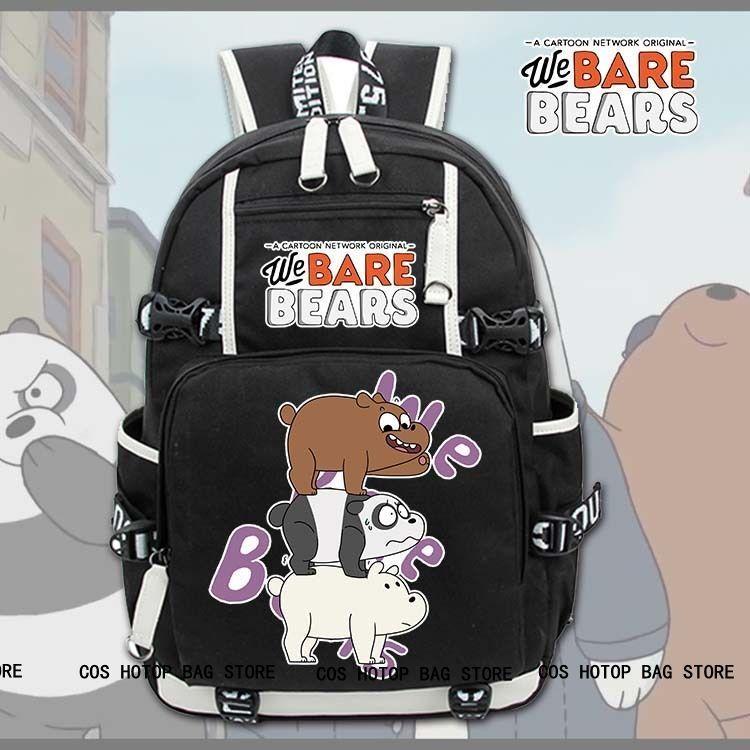 Anime We Bare Bears Backpack Knapsack Packsack Travel School Bags Otaku Shoulders bag Package anime death note backpack knapsack packsack travel study school bags otaku shoulders bag package