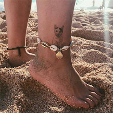 Summer See Shell Shape Anklets For Women Fashion Beach Rope Gold Color Metal Anklet Wedding Party Gift cavigliera donna rev donna ulrich rope of hope