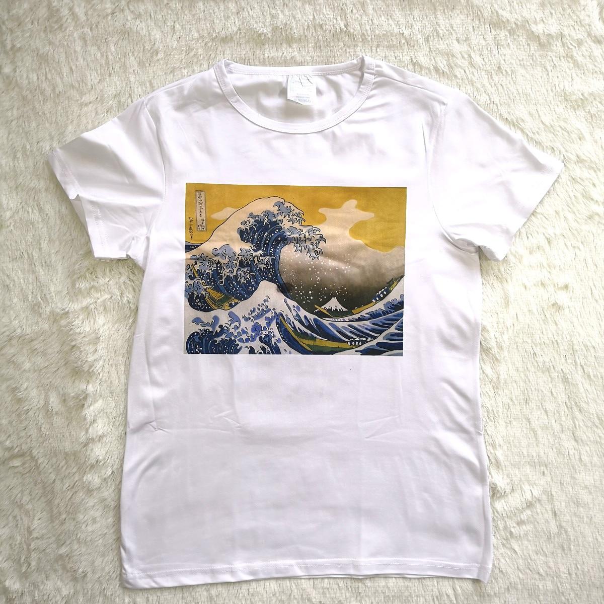 Hillbilly Japanischen Frauen t-shirt Lustige O-ansatz Kurzarm Modell sommer Tops Weiß Casual Top Grundlegende Hipster t shirt frauen Vogue