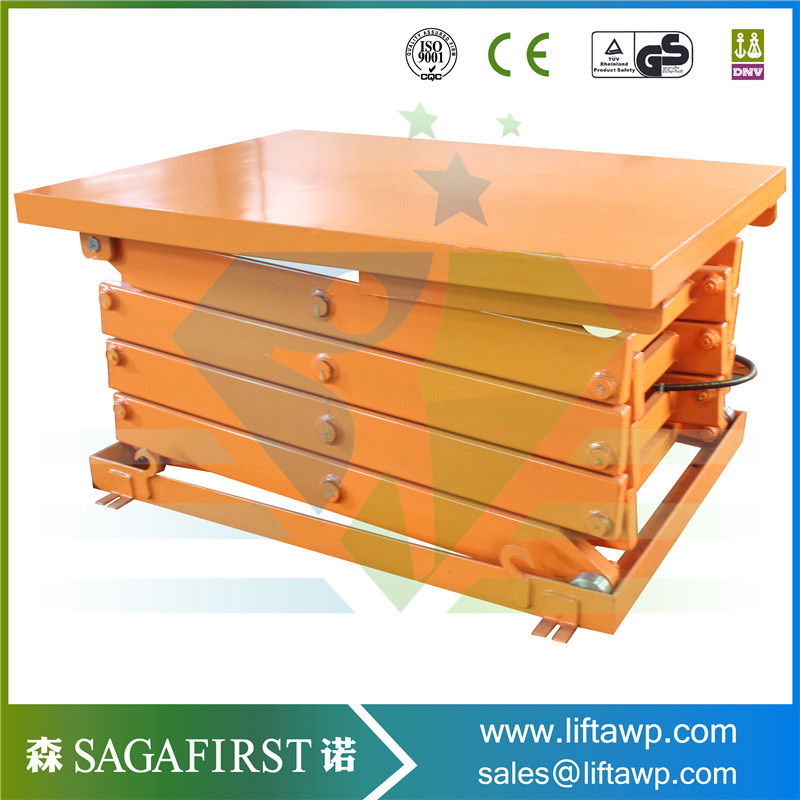 Chinese manufacturer fixed electric hydraulic scissor lift used table ...
