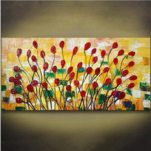 handmade Thick Textured knife flower oil painting 100% Hand Painted modern Oil Painting Canvas Wall Art Picture For Living Room