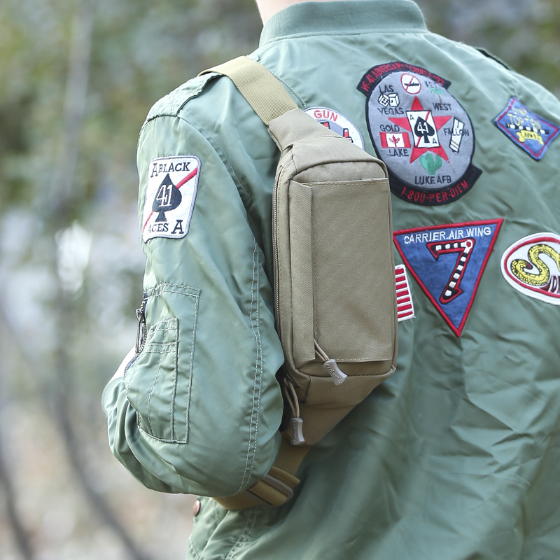 Mochila táctica militar bolsa de los hombres al aire libre Camping bolsas bolsa cinturón bolsa cintura pecho paquete senderismo deportes mochila bolso táctico