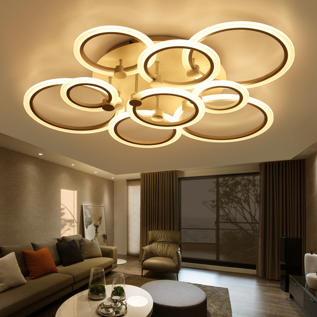 Lustre De Plafond Moderne Ceiling Lights Living Room Bedroom Led