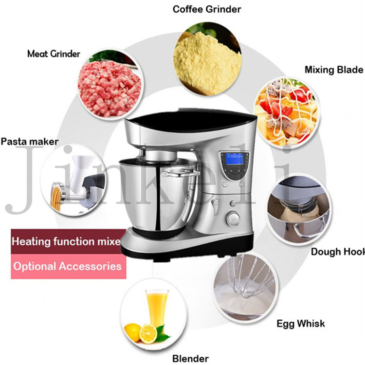 Free air shipping household 1200W electrical multi food processor with pasta maker meat grinder coffee maker egg whisk fuction wavelets processor