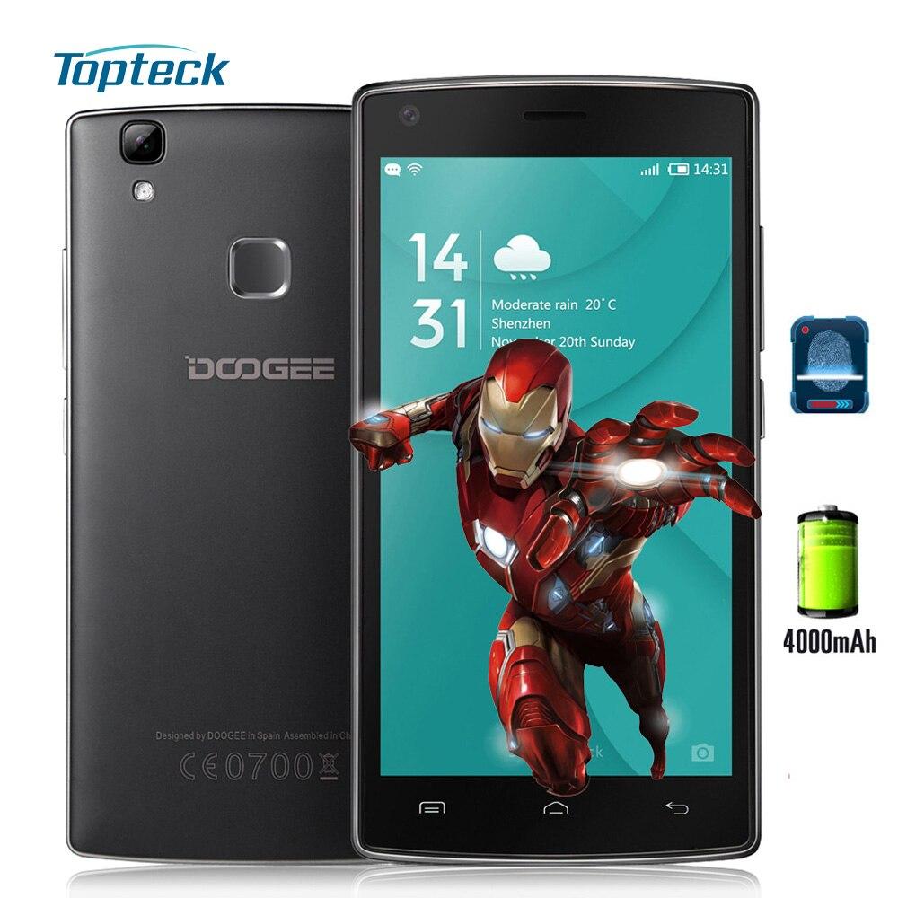 "bilder für DOOGEE X5 MAX Fingerprint 4000 mAh Smartphone 5,0 ""1280*720 Android 6.0 MTK6580 Quad-Core-Handy 1 GB + 8 GB 8MP + 8MP Handy"