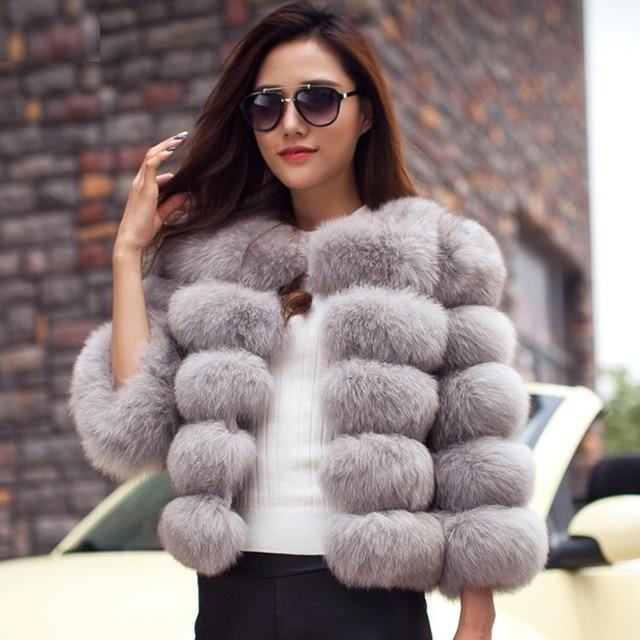abrigos mujer invierno  Mink Coats Women 2019 Winter Fashion Pink FAUX Fur Coat Elegant Thick Warm Outerwear Fake Fur Jacket