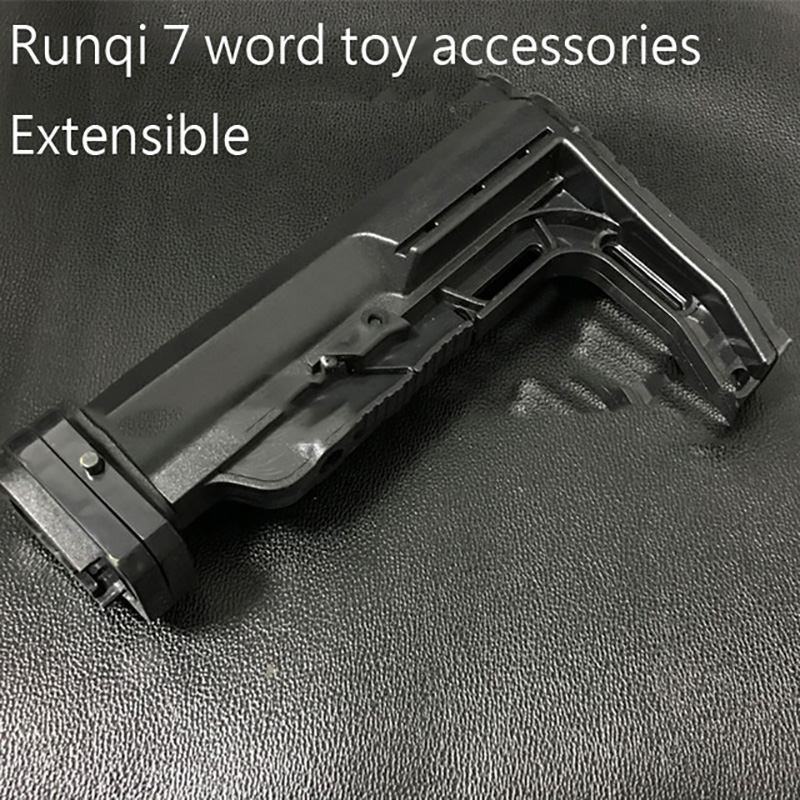 Gel ball gun runqi 7 words back to toy accessories can be retractable electric water bullet rifle Outdoor shooting game