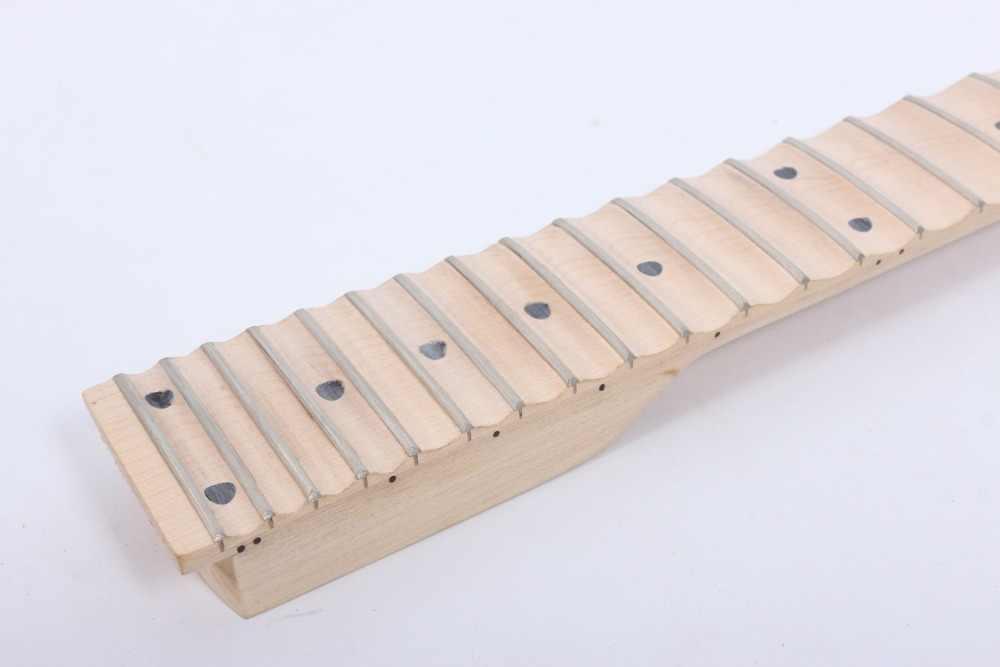 未完成フルスカラップギターネックエレキギター交換 24 Fret Maple 指板黒ドットインレイ