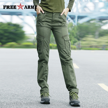 FreeArmy Brand Autumn Pants For Women Army Pants Military Sweatpants Pockets Cargo Pants Straight Trousers Womens Clothing