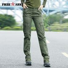 FreeArmy מותג סתיו מכנסיים לנשים צבא צבאי מכנסיים טרנינג כיסי מטען מכנסיים ישר מכנסיים נשים של בגדים