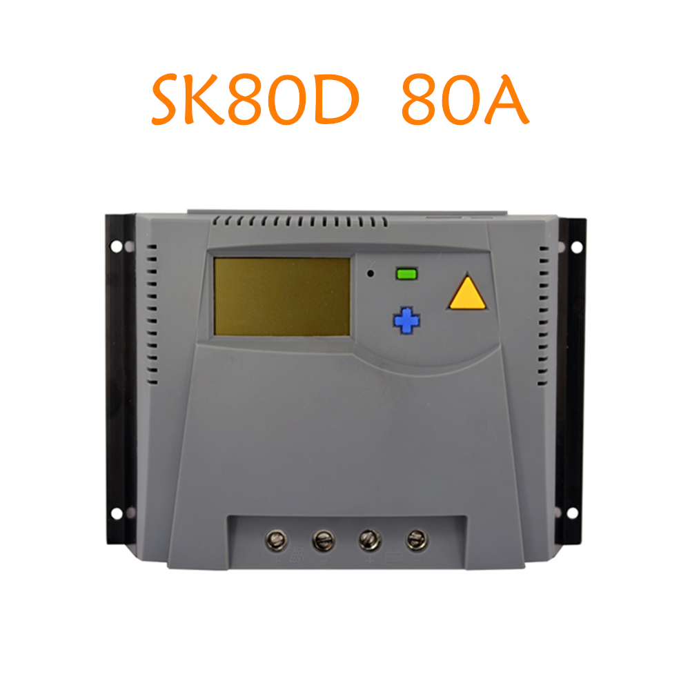 Hanf Commecial 80A 12V/24V High Quality Solar Charge Controller 4 stage PWM Solar Regulator LCD Display for Solar Panel System
