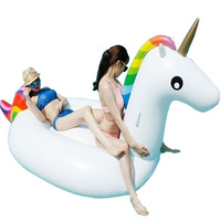 Inflatable Unicorn Pool Float Swimming Float 270cm Giant Pool Float for Adult Tube Raft Kid Swim Ring Summer Water Fun Pool Toy