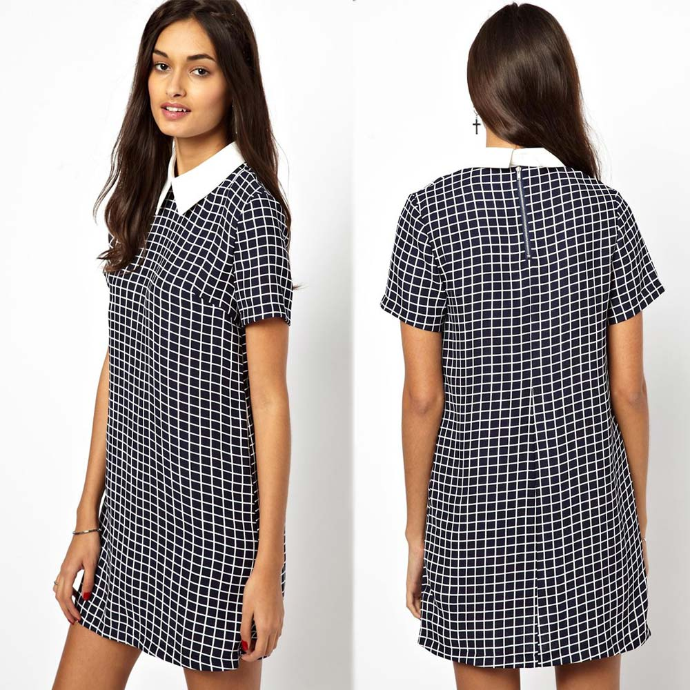 Compare Prices on Check Shift Dress- Online Shopping/Buy Low Price ...