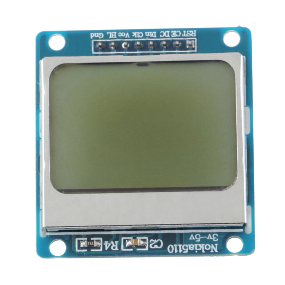 Nokia 5110 lcd module monochrome display screen 84 x 48 for arduino - Jakemy 1pcs High Quality 84 48 84x48 Lcd Module White Backlight Adapter Pcb For Nokia 5110 For Arduino Hot Worldwide
