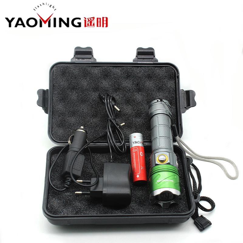 High Power Led Flashlight CREE XM-L2 U2 Zoomable 395nm Ultraviolet Violet Light Outdoor Camping Torch Lamp+18650 Battery+Charger led xm l2 flashlight 8000lumens tactical flashlight hunting flash light torch lamp 18650 battery charger gun mount