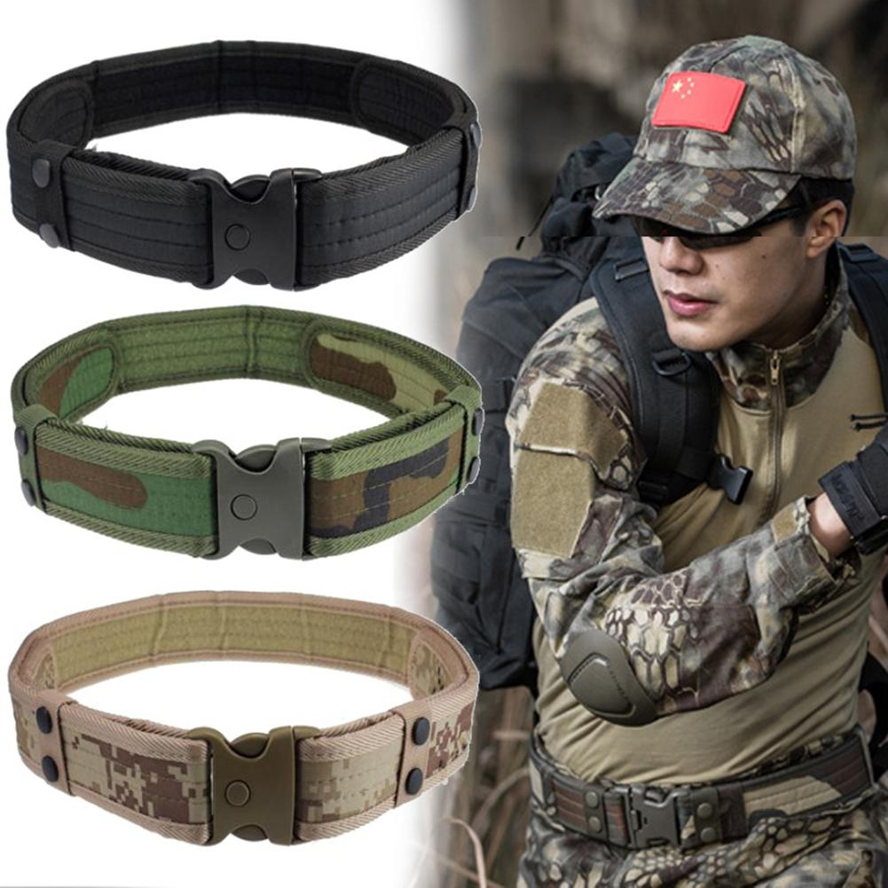 New Nylon Camouflage  Belt  Survival Adjustable Buckle Waistband