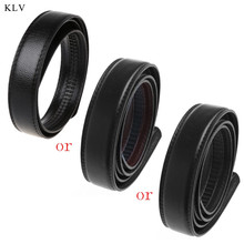 KLV Male Black Luxury Men Faux Leather Belt Wristband Strap With Automatic Buckle