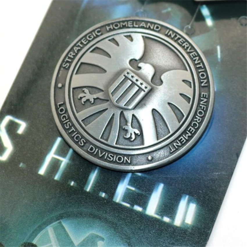 Superhero Movie The Avengers Cosplay Costumes Badge Agents Of SHIELD Hawk Logo Brooch