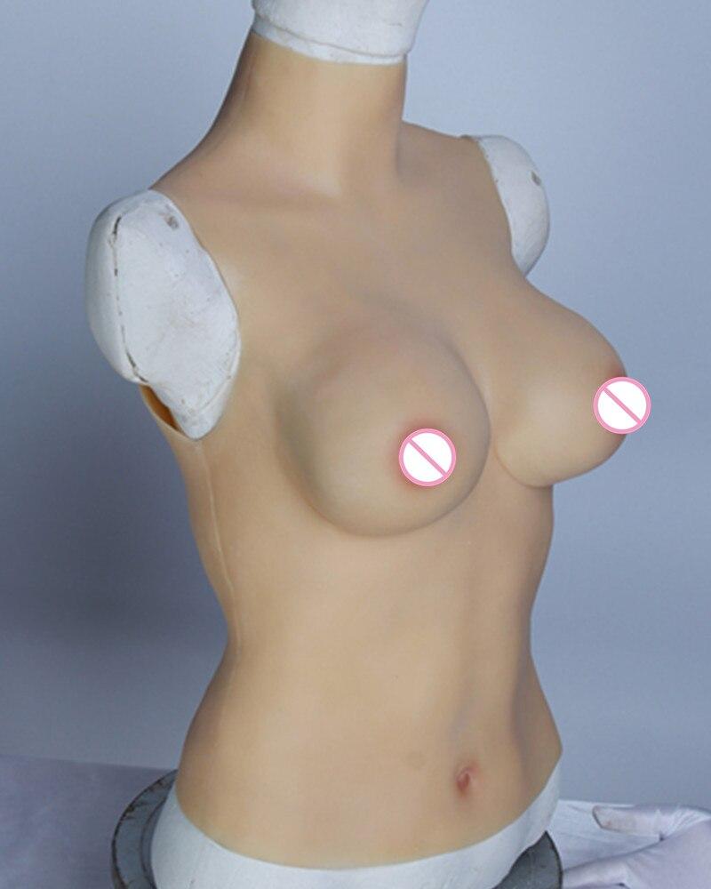 C Cup Fake Silicone Breast Forms Chest Enhancer Prosthetics Shemale Transgender Crossdresser Love Dolls Halloween Performer Bra