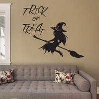 Halloween Quote Wall Decal Witch Vinyl Stickers For Home Window Door Decor