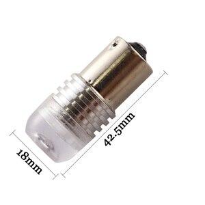 Image 3 - 10pcs S25 P21W 1156 BA15S Strobe flash 3W Lens 3 SMD 7020 LED Car turn signal light stop parking lights lamp 12V white yellow