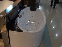 Curve Design Acrylic Whirlpool Bathtub Hydromassage Oval Tub Nozzles Water Spary Jets Spa RS6114