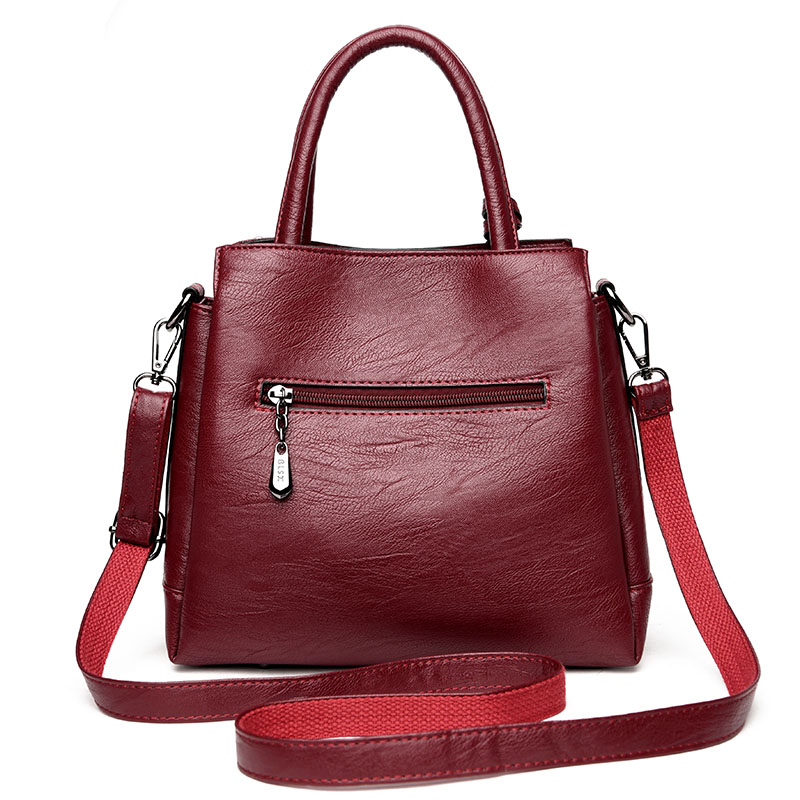 MENGXILU Tassel Women Handbags Pu Leather Shoulder Bags Plaid Rose Female Messenger Bags Large Capacity Casual Bag Sac A Main