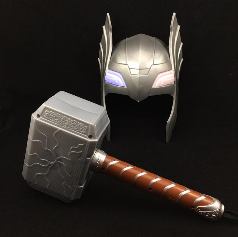 the avengers alliance led glowing and sounding thor is hammer toy cosplay costume mask action. Black Bedroom Furniture Sets. Home Design Ideas
