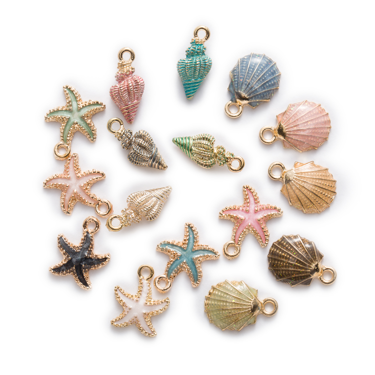 8x Silver Conch Seashell Charms Pendants for Necklace Jewelry Making Crafts