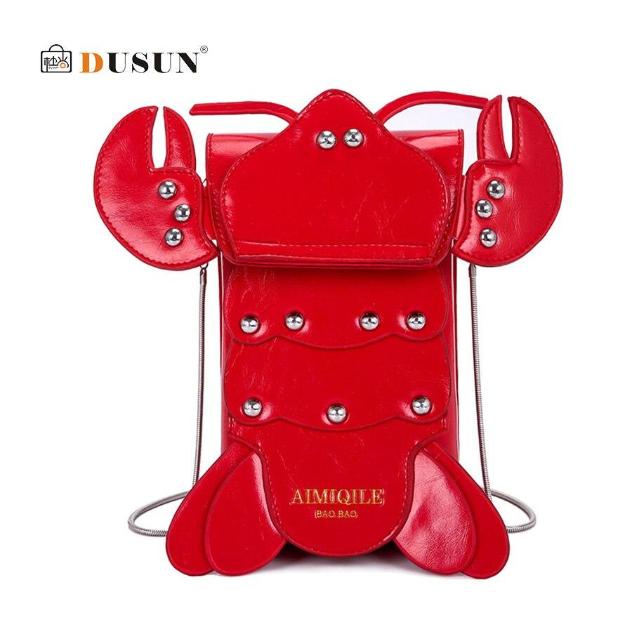Spalla Sacchetto 3d Fumetto Per Animale Della Catena Delle Crossbody Donne Red Elaborazione Messenger Flap Le Del Signora Di Borsa Lobster Dell'unità Bor Divertimento Creativo z7C68qwC4