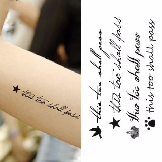 Waterproof Temporary Tattoo Sticker On Body Sexy Fly Bird With English Letters For Girl Tatto Stickers Flash Tatoo Fake Tattoos