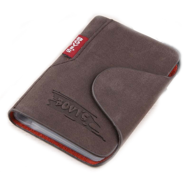 1pc Genuine Leather Business Cards Holder Credit Card Cover Bags Hasp Card Organizer Bags — BIH003 PM20