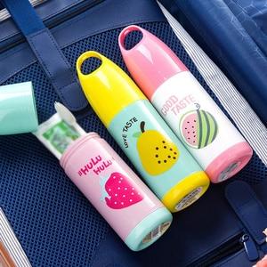 New Fruit Cartoon Mug Towel Travel Toothbrush Case Box Hiking Camping Plastic Storage Organizer Shower Accessories(China)