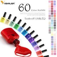 Venalisa Gel Nail Polish 60 Colors Nail Art New Kit Long-lasting Soak-off LED UV Gel Color CANNI Nail Gel Polish Base Top Coat