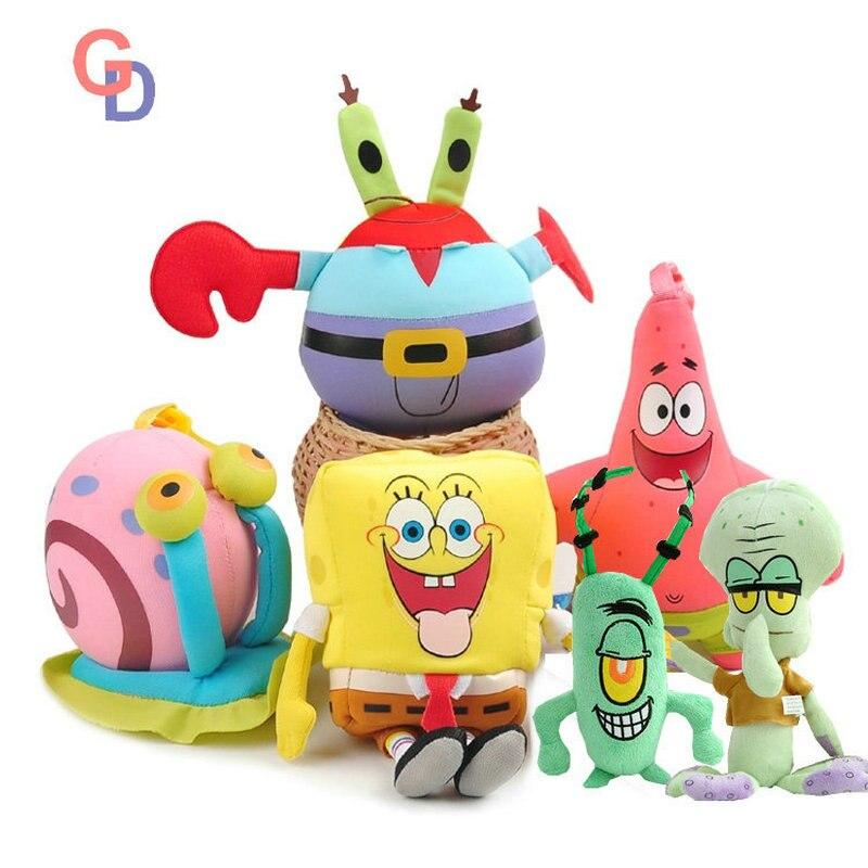 SpongeBob plush cartoon anime toys Patrick Star Squidward Tentacles Gary the Snail Captain Krabs Plankton doll for Children giftSpongeBob plush cartoon anime toys Patrick Star Squidward Tentacles Gary the Snail Captain Krabs Plankton doll for Children gift