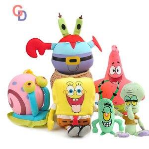 Spongebob Pluche Cartoon Anime Speelgoed Patrick Star Squidward Tentacles Gary De Slak Captain Krabs Plankton Pop Voor Kinderen Gift(China)