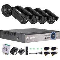 DEFEWAY 8CH 1200TVL CCTV камера Домашняя безопасность видеонаблюдение комплект День ночного видения CCTV Домашняя безопасность с аварийной батареей