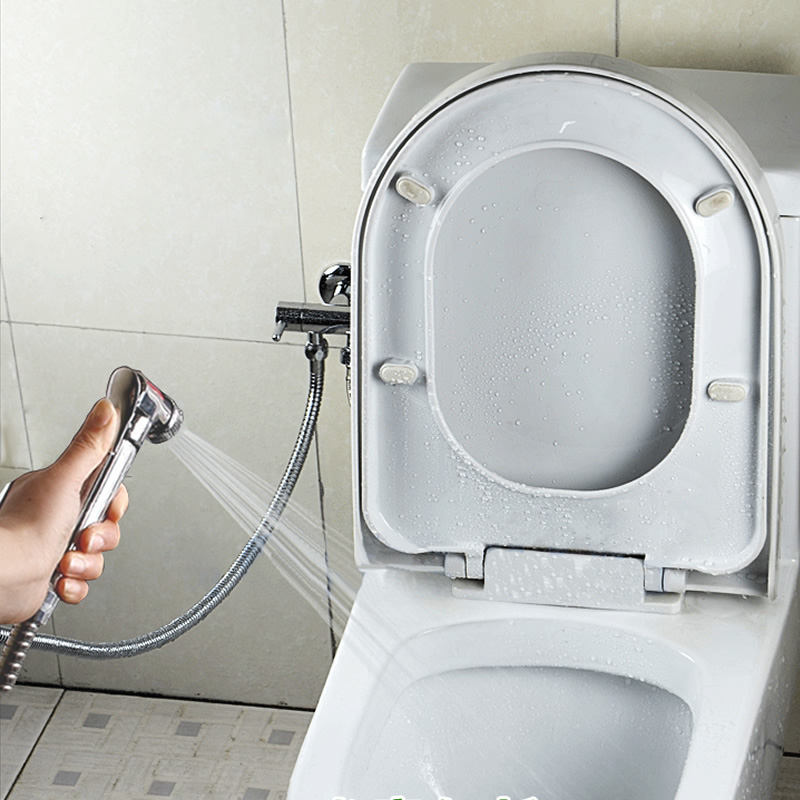 Heart bathroom toilet flusher suite bidet copper gun with ...