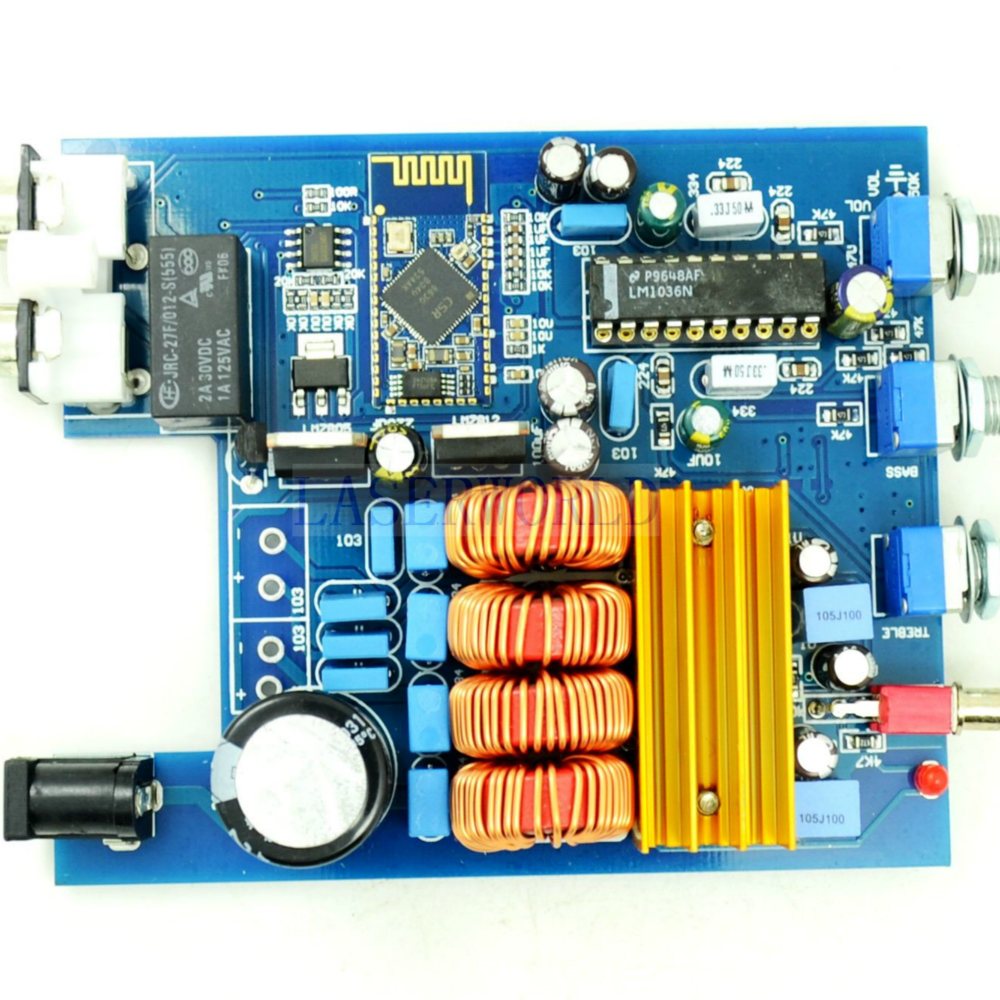 Finished 50W*2 TPA3116 <font><b>Bluetooth</b></font> <font><b>4.0</b></font> Audio Receiver <font><b>HiFi</b></font> Stereo Amp Class D Amplifier Board With Bass and Treble Adjustment image
