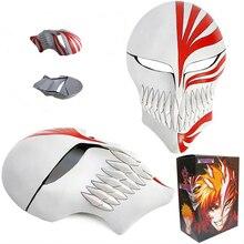 Bleach косплей Kurosaki Ichigo bankai полная полая маска(красный в белом
