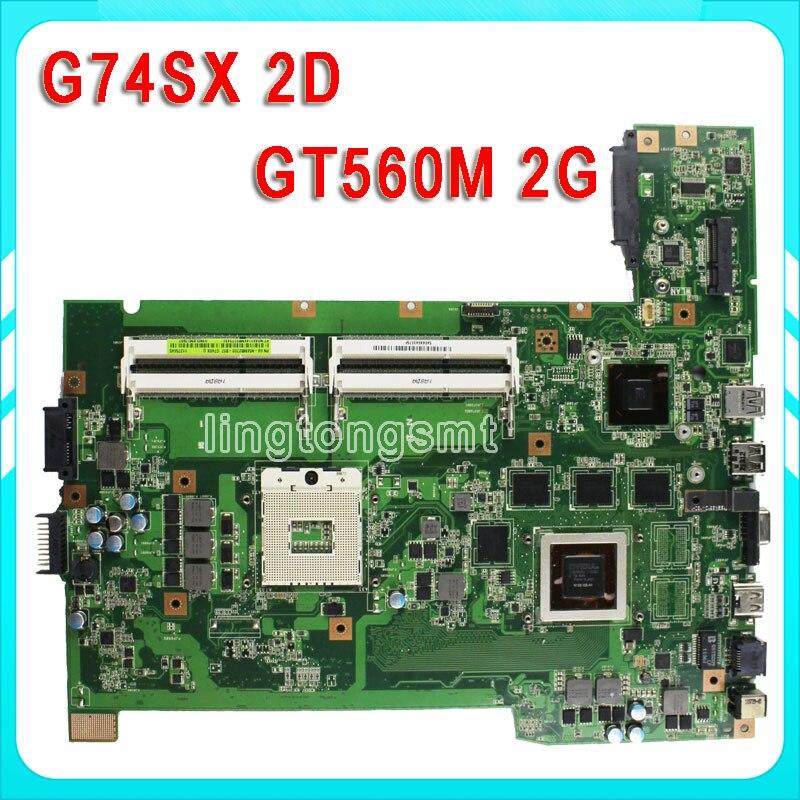 Здесь можно купить   G74SX laptop motherboard 2D Connetcor GT560M 2G ddr5 HM65 PGA989 4 RAM Slots fully tested Original Компьютер & сеть
