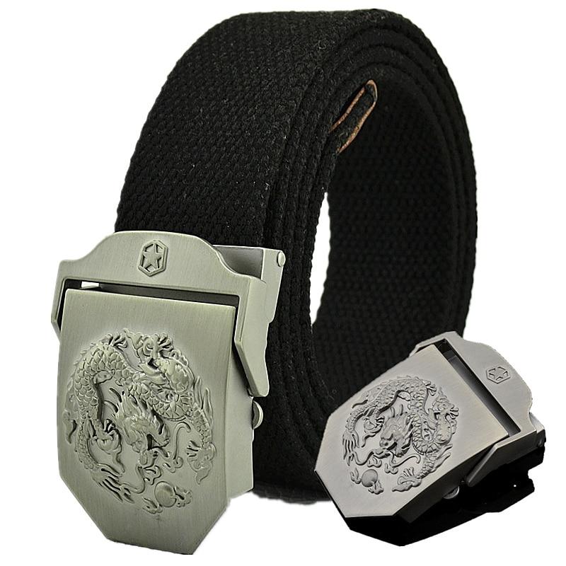 Taktische Gürtel für Männer Military Canvas Körperbreite 3,8 cm Designer hohe Qualität 2019 Modemarke Oriental Dragon Männlichen Taillenband