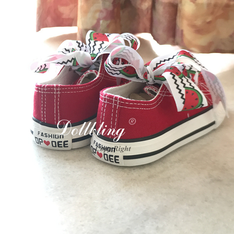 5411e346b18e Custom Handmade Watermelon Rhinestones Low top Canvas Bling brand Kid  casual flats Children crystal Sport Shoes Boys Sneakers-in Sneakers from  Mother   Kids ...