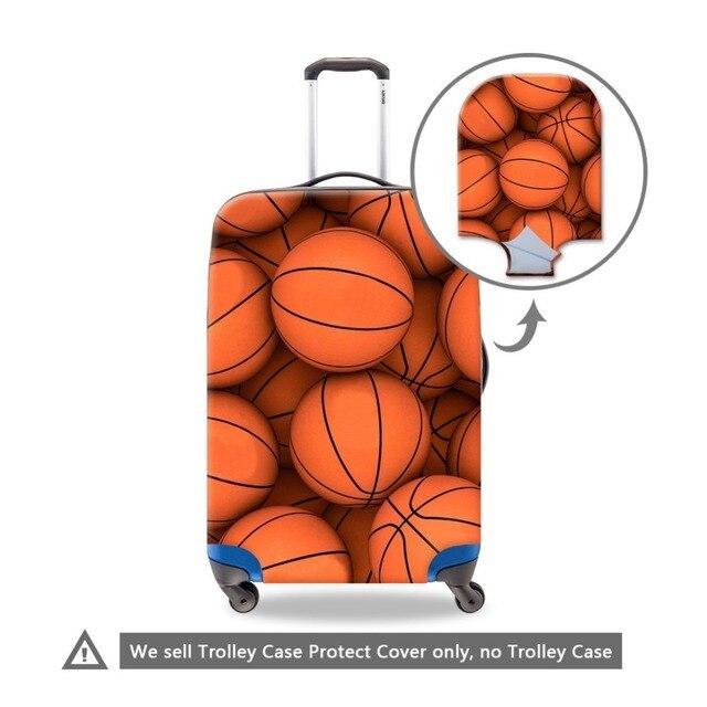 Водонепроницаемый Багаж Защитной Крышки для Мужчин Duffle Прохладный Чемодан Крышка Мяч Узоры Эластичный Багажа Защитные Чемодан Крышка