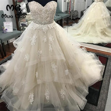 2018 Luxuries Ball Gown Appliques Wedding Dress Bridal Gown