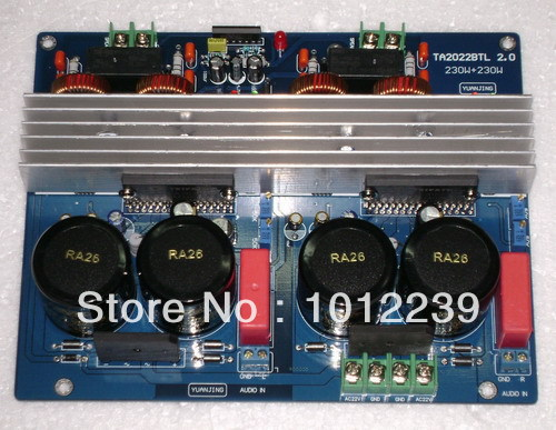 free shipping Assembled TA2022 (180W +180 W) Deluxe amplifier board free shipping assembled 1943 5200 2 1 amplifier board 80w 80 w 100 w without six 10000uf capacitance
