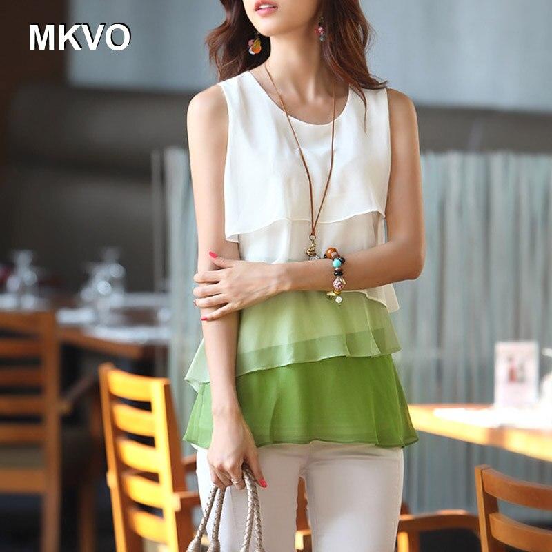 Damas amarillo Mujeres verde Tops Femeninas Más Camisa Blanca Las Coreano Bluses Gasa Sin Estilo Tamaño Mangas Marrón De Moda El Blusas x4RSwX0q